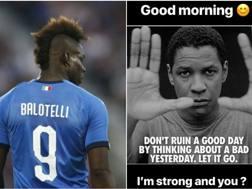 La storia condivisa da Mario Balotelli su Instagram.