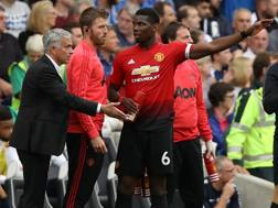 José Mourinho e Paul Pogba. Getty