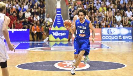 Italy in Bologna for the challenge to Poland with Della Valle and Brooks