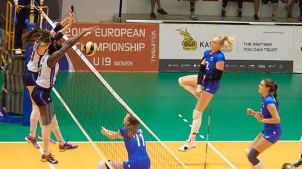 A phase of the final of the European Under 19 Italy-Russia Cev.lu