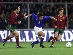 Italia-Portogallo del 1999-2000. Liverani