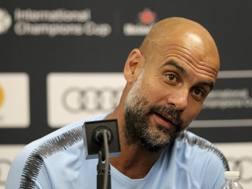 Josep Guardiola, 47 anni, allenatore del Manchester City. Ap
