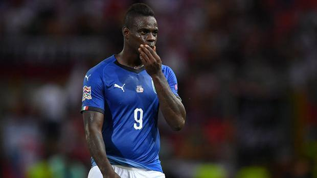 Mario Balotelli during the game against Poland in Bologna.  Getty