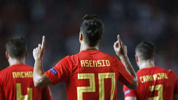 The performance of Marco Asensio, 22 years. Ap
