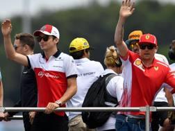 Charles Leclerc e Kimi Raikkonen. 38. Afp