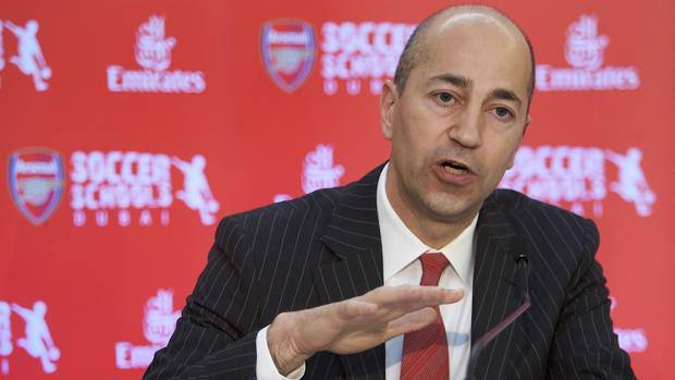 Ivan Gazidis, 53, is executive director of Arsenal in 2008. Ap