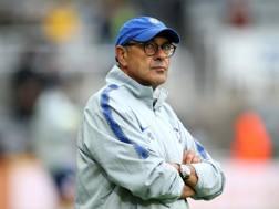 Marurizio Sarri sulla panchina del Chelsea. Getty