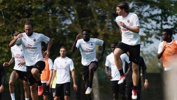 Milan in training.  Lapresse