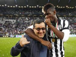 Mino Raiola con Paul Pogba ai tempi della Juventus. LaPresse