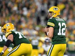 Aaron Rodgers, 34 anni, qb di Green Bay, Afp