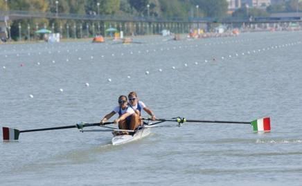 Le sorelle Giorgia e Serena Lo Bue, 24 e 23 anni, in azione a Plovdiv
