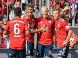 L'esultanza per il gol di Robben.  Afp