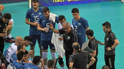 Un time out dell'Argentina. Fivb