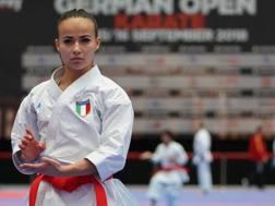 Viviana Bottaro, in lizza oggi per il bronzo, in un momento di gara alla Premier League di Berlino. WKF