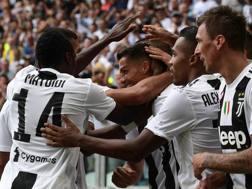L'esultanza di Cristiano Ronaldo dopo il gol. Afp