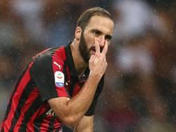 Gonzalo Higuain, 30 anni, prima stagione al Milan. LaPresse