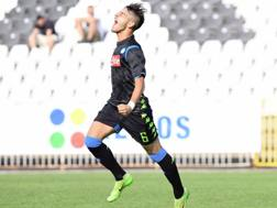 Alberto Senese esulta dopo il gol. Foto tratta dal profilo Twitter del Napoli