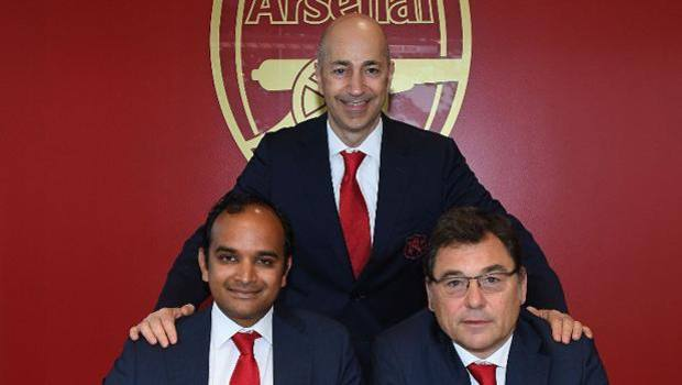 The photo of Gazidis published by the Arsenal site.