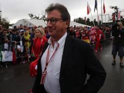Louis Camilleri, 63 anni, amministratore delegato Ferrari, al GP d'Italia ANSA