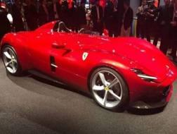 La nuova Ferrari Monza che sarà presentata al salone di Parigi