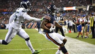 Anthony Miller, Chicago Bears, in touchdown AFP