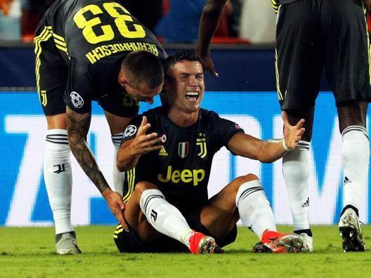 Le lacrime di Cristiano Ronaldo. Epa