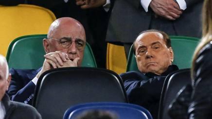 Adriano Galliani e Silvio Berlusconi. Ansa