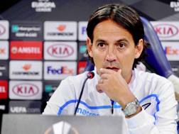 Simone Inzaghi in conferenza stampa.
