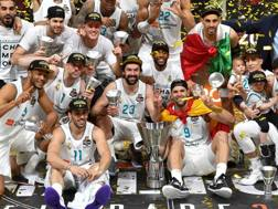 Il Real Madrid campione di Eurolega. Afp