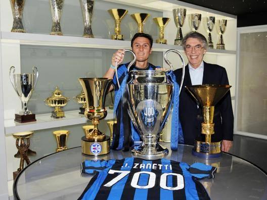 Massimo Moratti con Javier Zanetti OMEGA