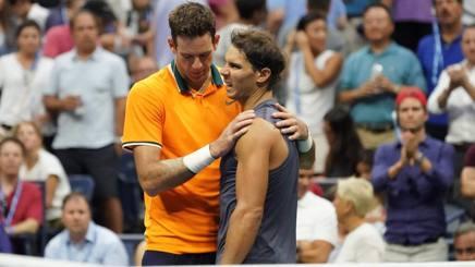 Il forfeit di Nadal con Del Potro agli Us Open. Afp