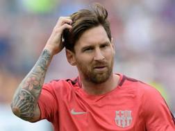 Messi, stella del Barça. Afp