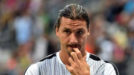 Zlatan Ibrahimovic, attaccante dei Los Angeles Galaxy. Afp