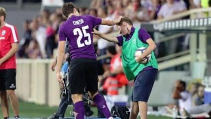 Federico Chiesa subito dopo il gol contro la Spal. Getty
