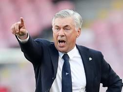 Carlo Ancelotti, prima stagione alla guida del Napoli. Getty Images