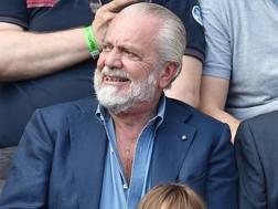 Il presidente del Napoli, Aurelio De Laurentiis. Ansa