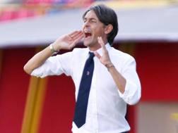 Filippo Inzaghi, allenatore del Bologna. Ansa