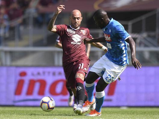 Un'azione del match di Torino. Lapresse