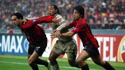 Nesta, Ronaldinho, Gattuso. AP