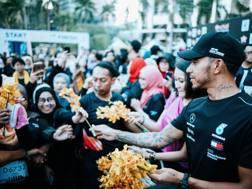 Hamilton all'Orchid Run&Ride a Kuala Lumpur