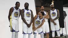 Steph Curry, 30 anni, con i 3 titoli vinti negli ultimi 4 anni coi Warriors. Ap