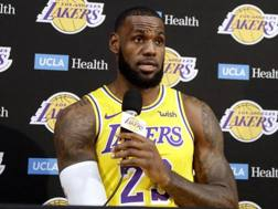LeBron James, 33 anni, prima stagione ai Lakers. Afp