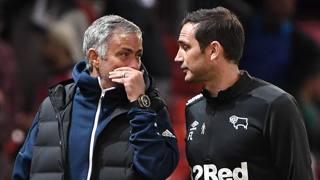 José Mourinho insieme a Frank Lampard. Afp