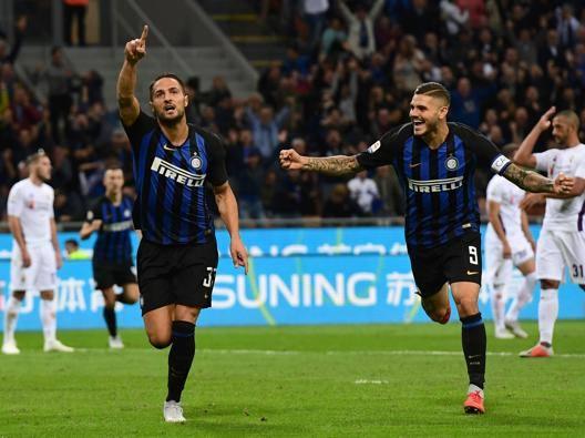 Danilo D'Ambrosio festeggia il gol. Ap