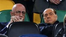 Adriano Galliani e Silvio Berlusconi. Getty