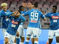Festa Napoli al San Paolo contro il Parma. Ansa