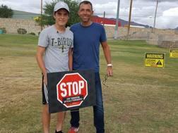 Brian Barlow, direttore di gara dell'Oklahoma, che ha lanciato un'originale iniziativa a difesa degli arbitri