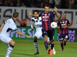 Budimir a segno allo Scida contro il Brescia. Lapresse