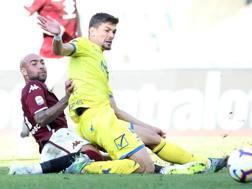Il colpo vincente di Simone Zaza contro il Chievo. Getty Images