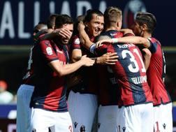 La gioia dei giocatori del Bologna. Getty